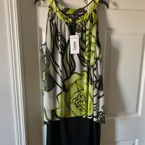 NWT Black Lime and White Dress by Frank Lyman.